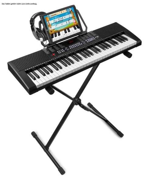 MAX KB4SET2 61-Tasten-Keyboard mit Trainingsfunktion, Ständer und Kopfhörer