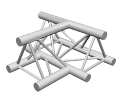 ExpoTruss X3K-30 Alu 3-Punkt 3-Weg T-Stück horizontal