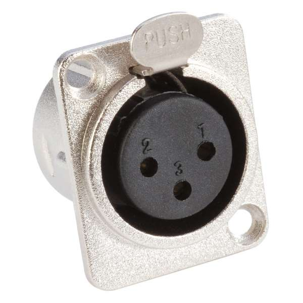 Adam Hall Connectors 7837 Einbaubuchse XLR female D-Typ