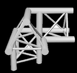 ExpoTruss X3K-30 Alu 3-Punkt 3-Weg Ecke 90Grad Spitze oben links