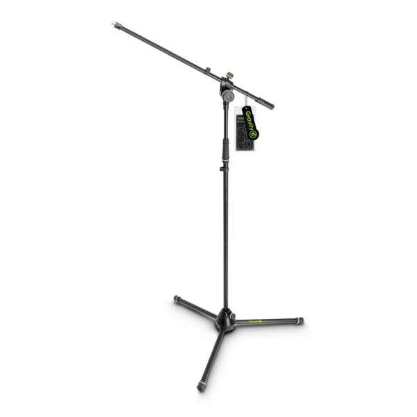 Gravity MS 4321 B Mikrofonständer mit Dreibein-Klappfuß und 2-Punkt Galgen