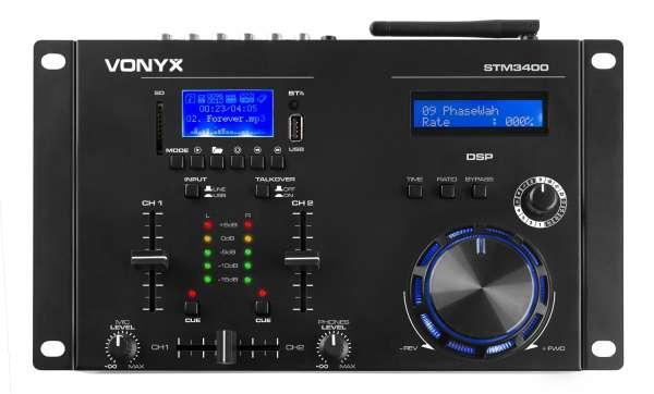 Vonyx STM 3400 2-Kanal Mixer mit Scratch Funmktion, Bluetooth und Mediaplayer
