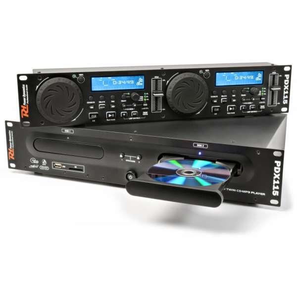Power Dynamics PDX115 Doppel Spieler CD/SD/USB/MP3