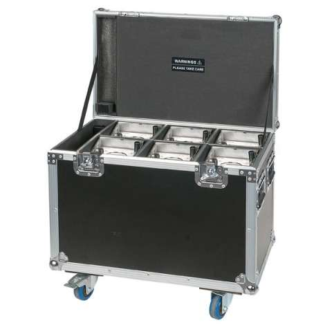 SHOWTEC Set 6x Eventspot 1800 + Case, 6 Covers und IR Remote