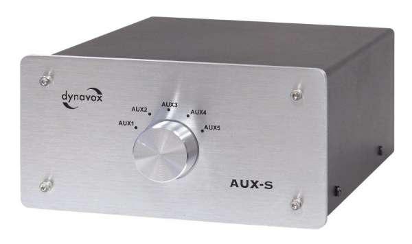 Dynavox Eingangs-Erweiterung/Umschalter silber Modell AUX-S